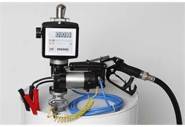Benzin-Fasspumpe EX50-12V-ATEX komplett für 200 l Fass mit Zähler