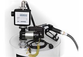 Benzin-Fasspumpe EX50-230V-ATEX komplett für 200 l Fass mit Zähler