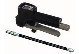 """DIGIMET E5 Hochdruck-Digital-Fettzähler mit Hochdruck-Gummipanzerschlauch RH30-C, R1/8"""""""