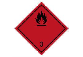 Gefahrzettel Klasse 3, 300 x 300 mm