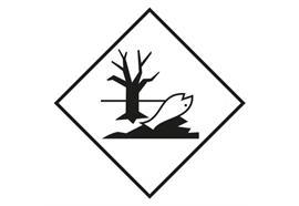 Gefahrzettel Umweltgefährdende Stoffe, 100 x 100 mm