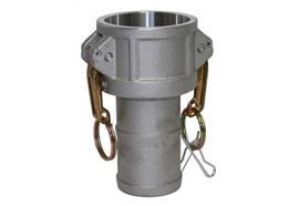 """Kamlok-Mutterteil mit Schlauchtülle 633-C - 1½"""" aus Aluminium"""