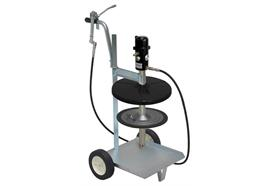 pneuMATO 55 fahrbar für 18/20 kg Gebinde mit Innen-ø 265-285 mm, 3.5 m Abschmierschlauch