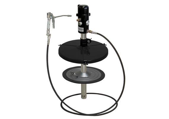 pneuMATO 55 stationär für 25 kg Gebinde mit Innen-ø 300-335 mm, 3.5 m Abschmierschlauch