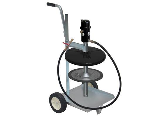 pneuMATO-fill Füllgerät fahrbar, für 50 kg Fettgebinde, Innen-ø 355-387 mm