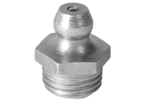"Schmiernippel H1 R 1/4"" aus Stahl verzinkt, SW14"