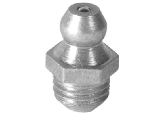 "Schmiernippel H1 R 1/8"" aus Stahl verzinkt, SW11"