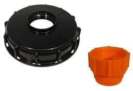 """Schraubdeckel für IBC-Container mit 2"""" IG-Adapter"""