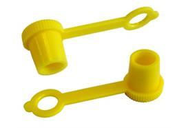 Schutzkappe aus Kunststoff für Kegel-Schmiernippel gelb