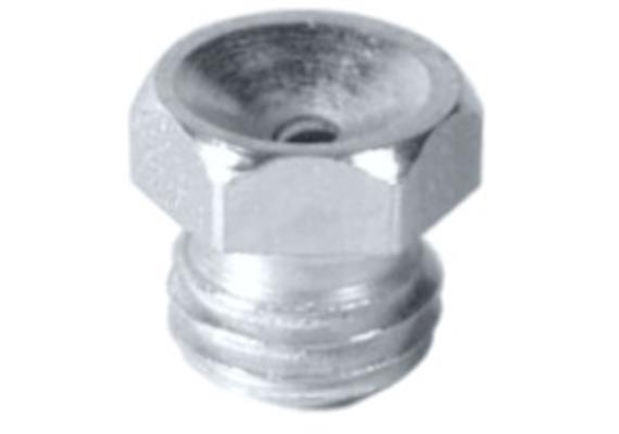 """Trichterschmiernippel D1 - R1/8"""" SW 11 aus Stahl verzinkt"""