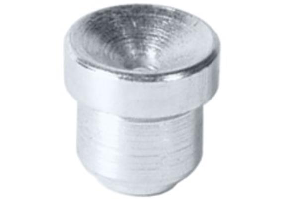 Trichterschmiernippel zum Einschlagen D1a - 8 mm aus Stahl verzinkt