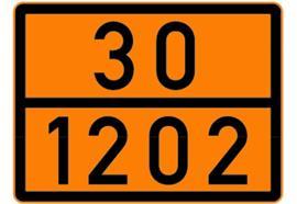 Warnfolie 30/1202 nicht reflektieren für Kesselwagen, 300x400mm