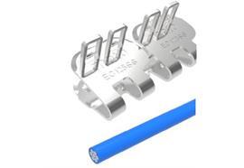 Agrafe à plaques EasyClip EC125SS - 100 mm, 8 barrettes +4 tiges + 10 rondelles. ECP125NCS