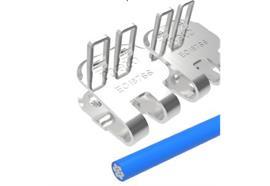 Agrafe à plaques EasyClip EC187SS -1200 mm, 8 barrettes +4 tiges + 10 rondelles. ECP187NCS
