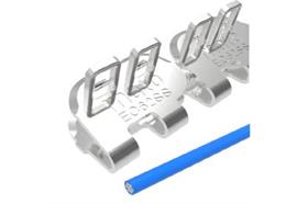 Agrafe à plaques EasyClip EC62SS - 500 mm, 8 barrettes + 4 tiges + 10 rondelles. ECP62NCS