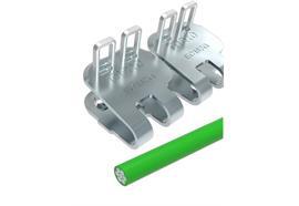 Agrafe à plaques EasyCliPE C187G - 500 mm, 8 barrettes + 4 tiges + 10 rondelles. ECP187NC