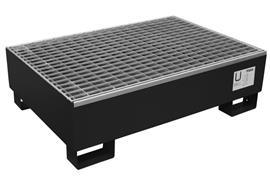 Bac de rétention laqué pour 2 fûts de 200 litres (1200 x 8100 x 325 mm)