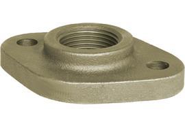 """Bride ovale 1½"""" acier galvanisé DIN5435"""