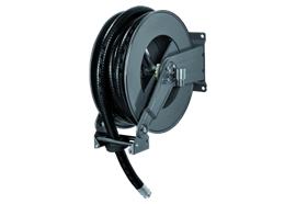 Enrouleur 1200 pour Adblue en acier verni RAL7016 avec 10 m de tuyau