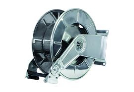 """Enrouleur à ressort en acier inox HR3501 pour tuyaux d'eau 3/4""""-1"""" jusqu'à 80 bar"""
