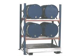 Étagère barillet pour 4 fûts de 200 litres