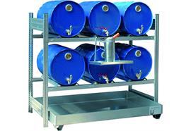 Étagère barillet pour 6 fûts de 200 litres