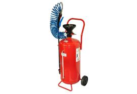 Fahrbares Drucksprühgerät mit 24 l Behälter, Nivauanzeiger und mit Metallschutz