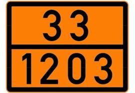 Feuille d'avertissement non réfléchissante autocollant 33/1203, 300x400mm