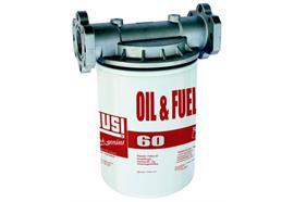 """Filtre pour huile 60 l/min - 1"""" int. - 1 tête - 1 cartouche - 10 µm"""