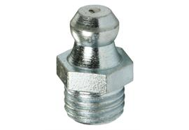 Graisseur hydraulique H1 M8x1 en acier zingué, 6-pans 9