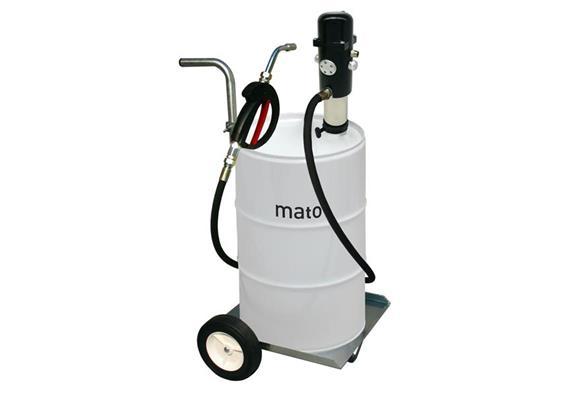 pneuMATO 3 Pompe à huile, chariot, pistolet simple