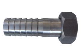 Raccord droite porte-tuyaux en acier inoxydable APLR20V