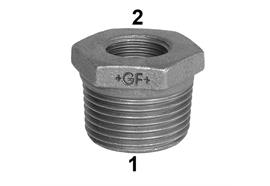 "Reduction GF Fittings N° 241 galvanisé 2""-1½"" mâle-femelle"