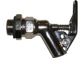 """Robinet de sécurité avec bague de serrage, joint intérieur en PTFE, raccord 3/4"""" ext."""