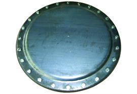 Coperchio passo d'uomo Ø 600 con 24 viti e anello filettato