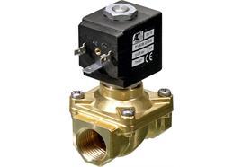 """Elettrovalvola in ottone a comando diretto ¼"""" 2/2 NC 230V membrana VITON®"""