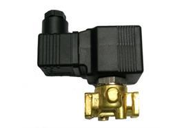 """Elettrovalvola in ottone a comando diretto e manuale ¼"""" 2/2 NC 12V membrana VITON®"""