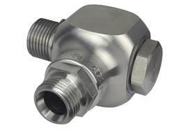 """Giunto girevole in acciaio inox, per avvolgitubo DN12- 1/2"""" est./est. press. max. 300 bar"""