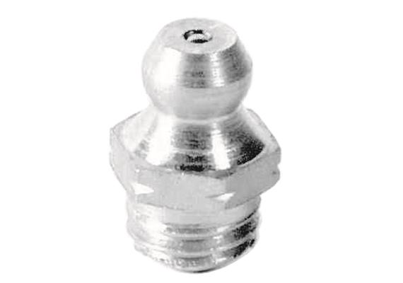 Ingrassatore H1 M8x1 in acciaio temperato 1.4305 (V2A), esagonale 9. Unità imballaggio 10