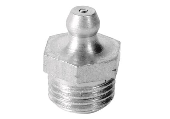 """Ingrassatore H1 R1/4"""" in acciaio temperato 1.4305 (V2A), esagonale 14. Unità imballaggio 5"""