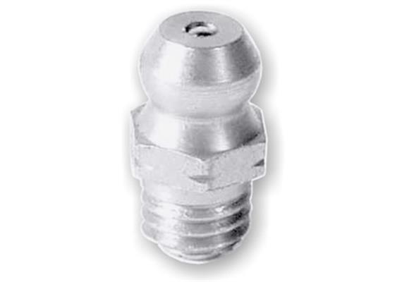 """Ingrassatore H1 R1/8"""" in acciaio temperato 1.4305(V2A), esagonale 11. Unità imballaggio 10"""