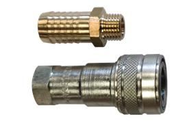 Innesto rapido, idraulico- ZSA con attacco portagomma, norma ISO 7241B