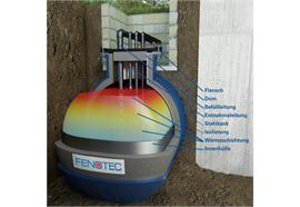 Kit di conversione in un accumulatore di calore per cisterne interrate
