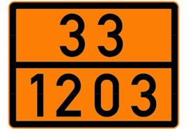 Pannello arancione non riflettente autoadesivo 33/1203, 300 x 400 mm