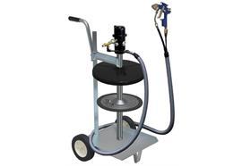 pneuMATO 55 - LubeJet, impianto mobile, per fusti da 50 kg, ø interno 355-387mm