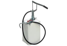 Pompa a mano per bidoni KHP 202- G, con tubo in gomma, lunghezza 1.5 m, e rubinetto
