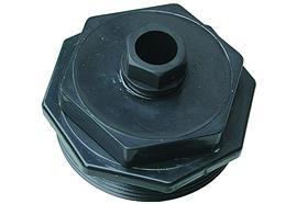 "Raccordo per cisterna 2"" in plastica per 1 x 6 - 12 mm"