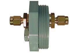 """Raccordo per cisterna 2"""" in PVC con 2 raccordi Serto 6/8"""