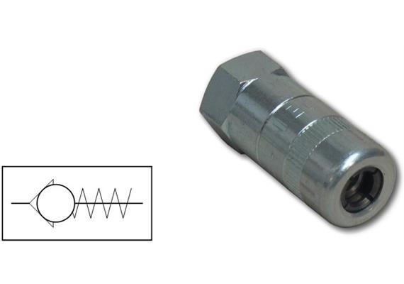 Testina a 4 Griffe, con valvola di ritegno, per ingrassaggio.M10x1