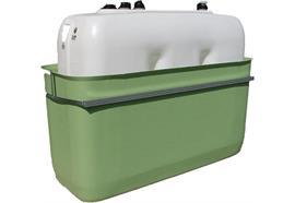 Vasca di contenimento in PFV 100% + cisterna 1000L basso
